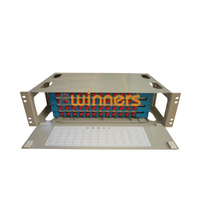 BWINNERS SJ-ODF-48-1 48 Port Rack Mount Fiber Optic Patch Panel Unit Box 19 Inch Fiber Optic ODF