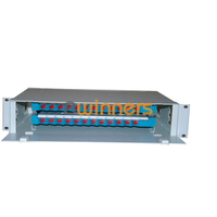 BWINNERS SJ-ODF-24 24 Port Rack Mount Fiber Optic Patch Panel Unit Box 19 Inch Fiber Optic ODF