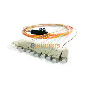 BWINNERS 12 Core SM SC/UPC Ribbon Optic Cable Pigtail/ Patchcord Jumper Cable Pigtail