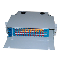 BWINNERS SJ-ODF-48-2 48 Port Rack Mount Fiber Optic Patch Panel Unit Box 19 Inch Fiber Optic ODF