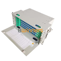 BWINNERS SJ-ODF-72 72 Port Rack Mount Fiber Optic Patch Panel Unit Box 19 Inch Fiber Optic ODF