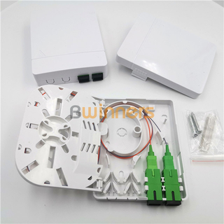 BWINNERS SJ-FTTH-SK-6 2 Ports Optical Fiber Cable Wall Socket Faceplate