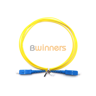 BWINNERS SC/UPC- SC/UPC SX SM 2.0mm 2M Fiber Optic Patch Cord / Patchcord Jumper Cable Pigtail