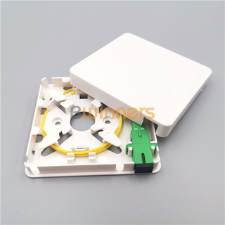 SJ-FTTH-MN-3 1 Port Mini Fiber Optic Cable Socket Face-plate FTTH Box SC Fiber Optic Socket Panel